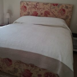 Floral Headboard And Bed Valance