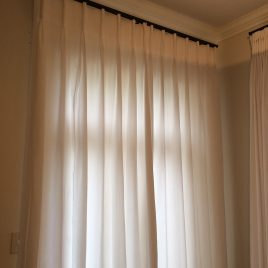 Rod/Track Combo With Pinch Pleated Curtains