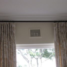 Curtains On 25 mm Metal Pole With Rings