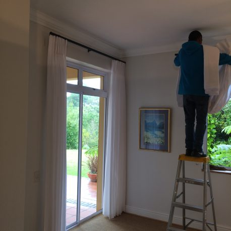 Installing curtains