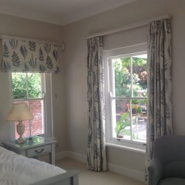 Curtains And Blinds On Wooden Rebated Rods
