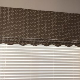 Scolloped Roman Blind with Venetian Behind