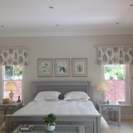 Roman Blinds Behind Rods