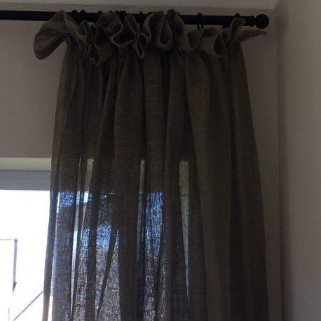 Sheer ruffled curtain